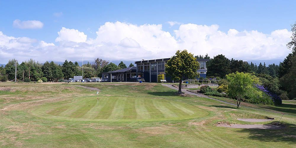 The beautiful grounds at Dannevirke Golf club.