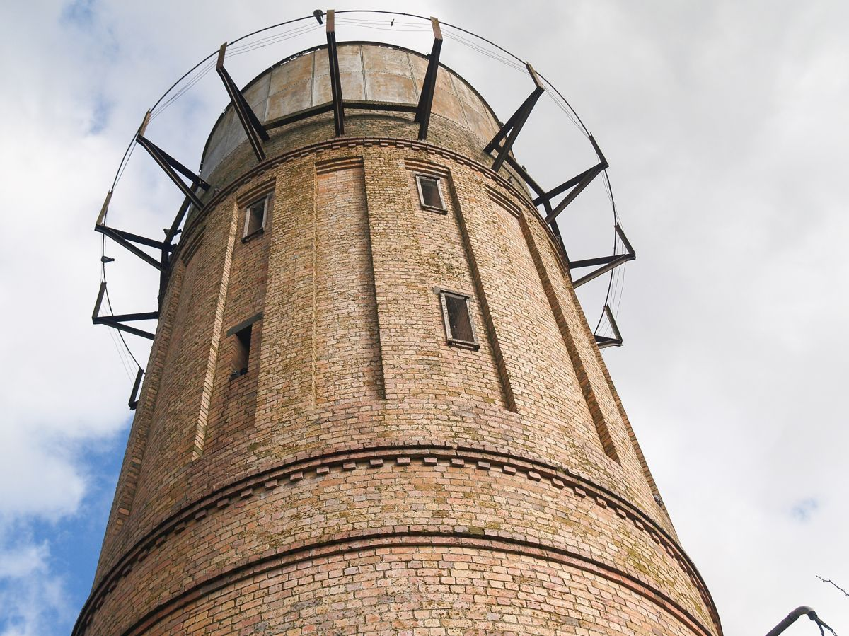the old brick water tower
